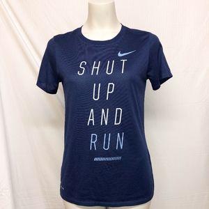 Nike Navy Blue Dri-fit Running Top